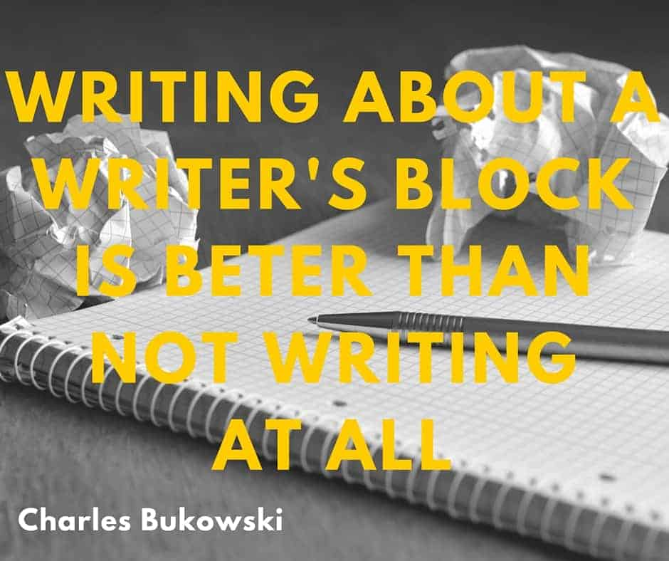 Charles Bukowski over writer's block