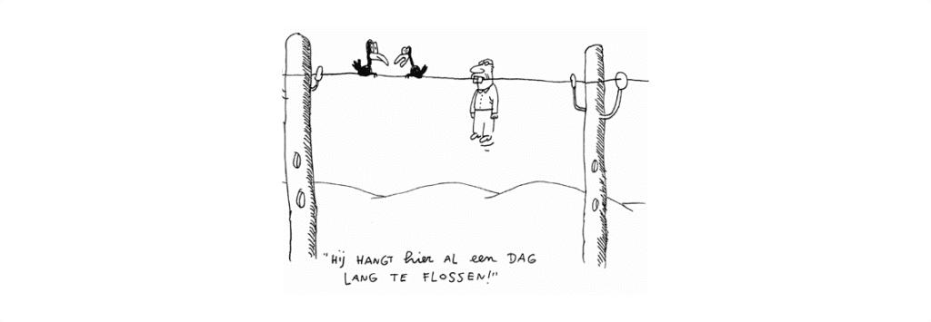 Flossen als vorm van uitstelgedrag